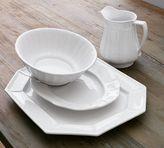 Pottery Barn Colette Scalloped Oval Platter, Stone