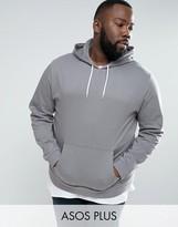 Asos PLUS Hoodie In Gray