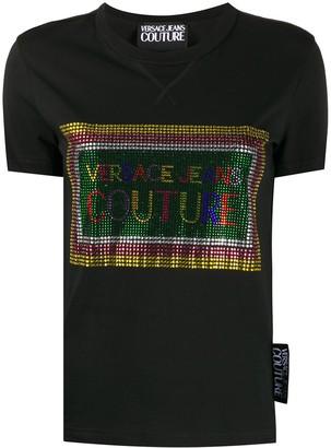 Versace studded logo round neck T-shirt