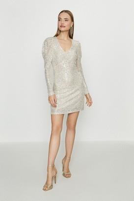 Coast Puff Sleeve Short Sequin Dress