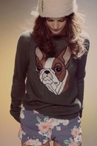 Wildfox Couture Bulldog Party Sweater in Pine