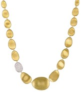 Marco Bicego Diamond Lunaria Collar Necklace in 18K Gold, 16.5