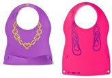 Kinderville Little Bites Silicone Bibs (Set of 2, /Purple) [Baby Product]