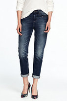 Lands' End Women's Slouchy Slim Jeans-Washed Moss