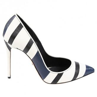 Dolce & Gabbana Blue Leather Heels