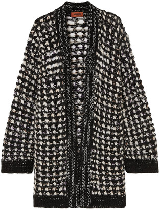 Missoni Marled Open-knit Wool-blend Cardigan