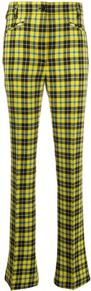 Acne Studios Slim-Fit Tartan-Check Trousers