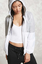Forever 21 Heathered-Panel Windbreaker