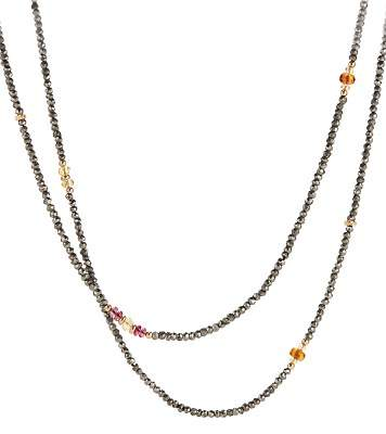 David Yurman Mustique Beaded Necklace with Pyrite, Citrine and Pink Tourmaline in 18K Gold