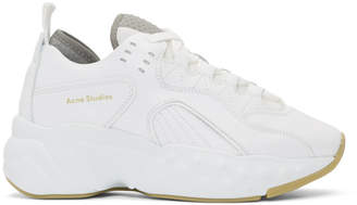 Acne Studios SSENSE Exclusive White Manhattan Sneakers