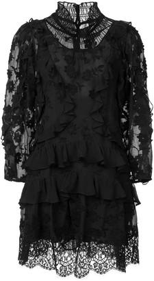 Rebecca Taylor ruffle long-sleeve dress