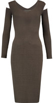 Enza Costa Cutout Ribbed Stretch-Jersey Dress