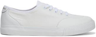 Zimmermann Leather-trimmed Cotton-canvas Sneakers