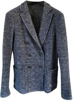 Tonello Blue Wool Jacket for Women