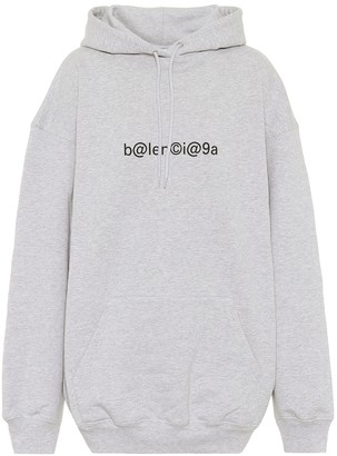 Balenciaga Logo oversized cotton hoodie