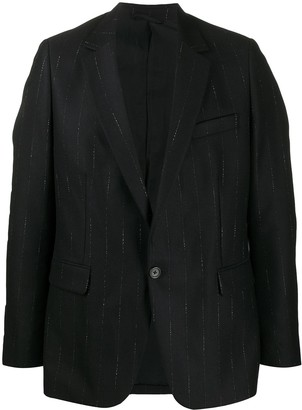 Ann Demeulemeester Striped Single-Breasted Jacket