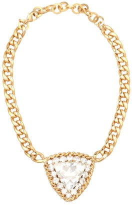 Alessandra Rich Crystal-embellished chain necklace