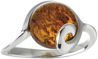 Nature D'ambre Nature d 'Ambre 3111205Women's Ring Silver 925/1000Amber