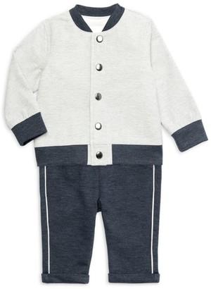 Miniclasix Baby Boy's 3-Piece Jacket, T-Shirt & Pants Set