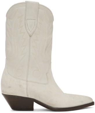 Isabel Marant Off-White Western Stitch Duerto Boots