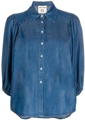 Semi-Couture 3/4 Sleeve Denim Shirt