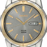 Seiko Mens Two-Tone Solar Watch SNE098, One Size , No Color Family