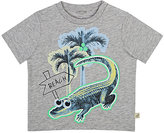 Stella McCartney Alligator-Print Cotton T-Shirt