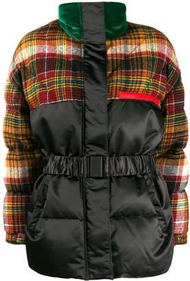 Etro tartan duck down puffer jacket