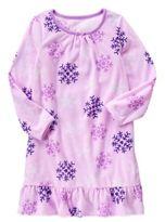 Crazy 8 Snowflake Microfleece Pajama Gown