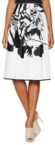 Piazza Sempione Printed Pleated Midi Skirt