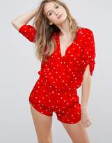 Traffic People Polka Dot Romper