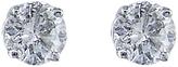 EWA 18ct White Gold 0.80ct Diamond 4 Claw Stud Earrings, White Gold