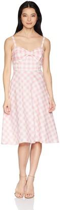 Brinker & Eliza Women's Petite Plaid Sundress with Pleated Skirt