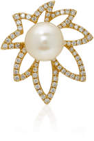Yvonne Leon 18K Gold Pearl and Diamond Earring