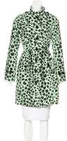 Moschino Cheap & Chic Moschino Cheap and Chic Leopard Print Knee-Length Raincoat w/ Tags
