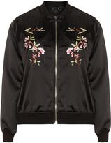 Jette Joop Plus Size Embroidered satin bomber jacket