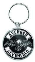 Avenged Sevenfold Keyring Keychain Death Bat Crest band logo new Official metal