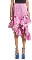 Marques Almeida Women's Marques'Almeida Asymmetrical Ruffle Taffeta Skirt