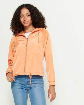 Shinestar Solid Full-Zip Windbreaker Jacket