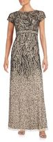 Adrianna Papell Sequined Empire Waist Gown