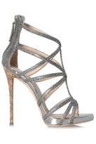 Giuseppe Zanotti Coline Heels Black and Silver