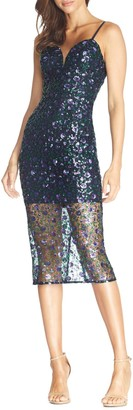 Dress the Population Addison Sequin Lace Cocktail Dress