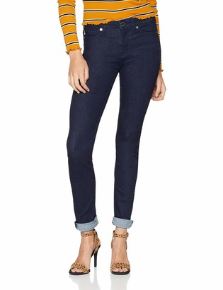 Love Moschino Women's Jeans Skinny Fit Denim Trousers with Hearth Print On The Back Pocket