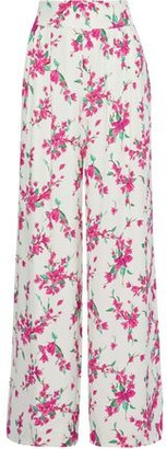 Rachel Zoe Steph Pleated Floral-print Crepe Wide-leg Pants
