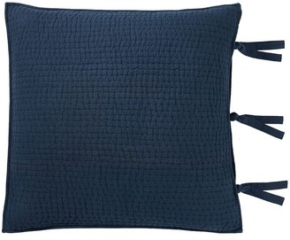 Pottery Barn Pick-Stitch Handcrafted Cotton/Linen Quilted Shams