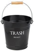InterDesign Pail Wastebasket Trash Can - Metal, Black