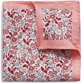 Eton Bordered Floral Pocket Square