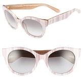 Kate Spade Women's 'Melly' 53Mm Sunglasses - Beige/ White Stripe