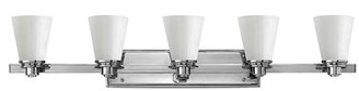 Avon Hinkley Lighting 5-Light Vanity Light Hinkley Lighting Finish: Chrome, Shade Color: White