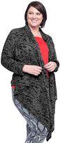 Soybu Plus Size Aubrey Burnout Camo Wrap Cardigan